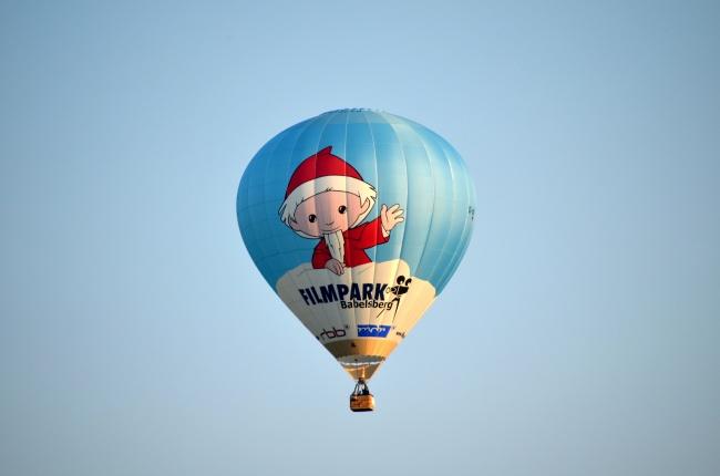 卡通图案热气球图片