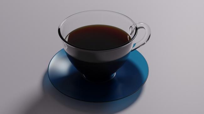 一杯黑咖啡热饮图片下载