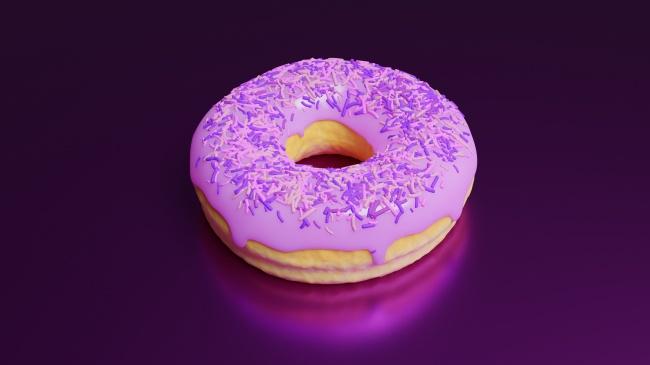 油炸圈饼甜甜圈精美图片
