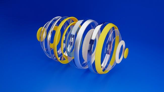 创意螺纹状玻璃器精美图片