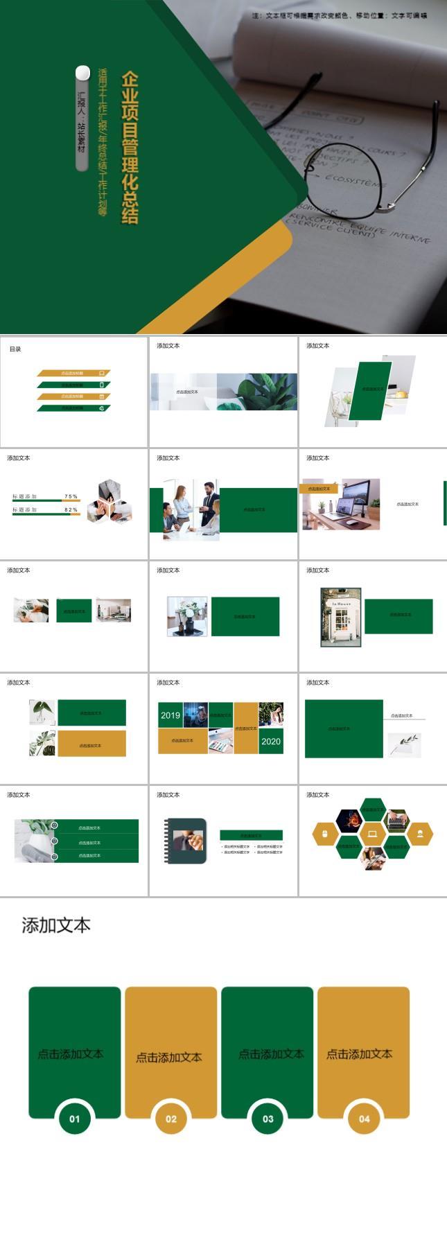 企业项目管理化总结ppt模板