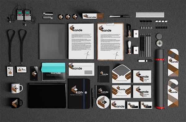 VI设计贴图模版效果图提案样机免费psd素材