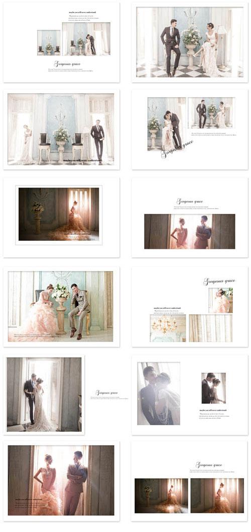 华丽风姿婚纱模板免费psd分层素材