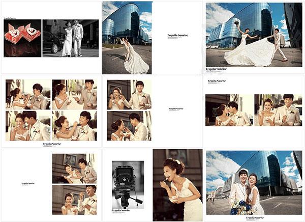 幸福ING婚紗照模板免費psd分層素材