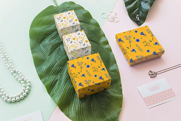 珠宝包装盒样机概念分层素材
