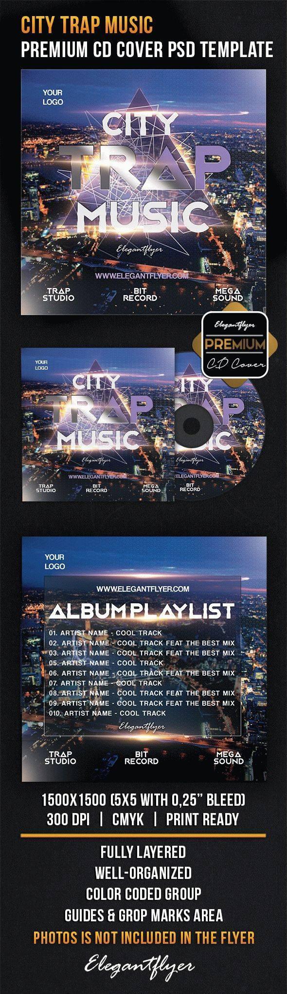 优质音乐CD包装设计psd分层素材