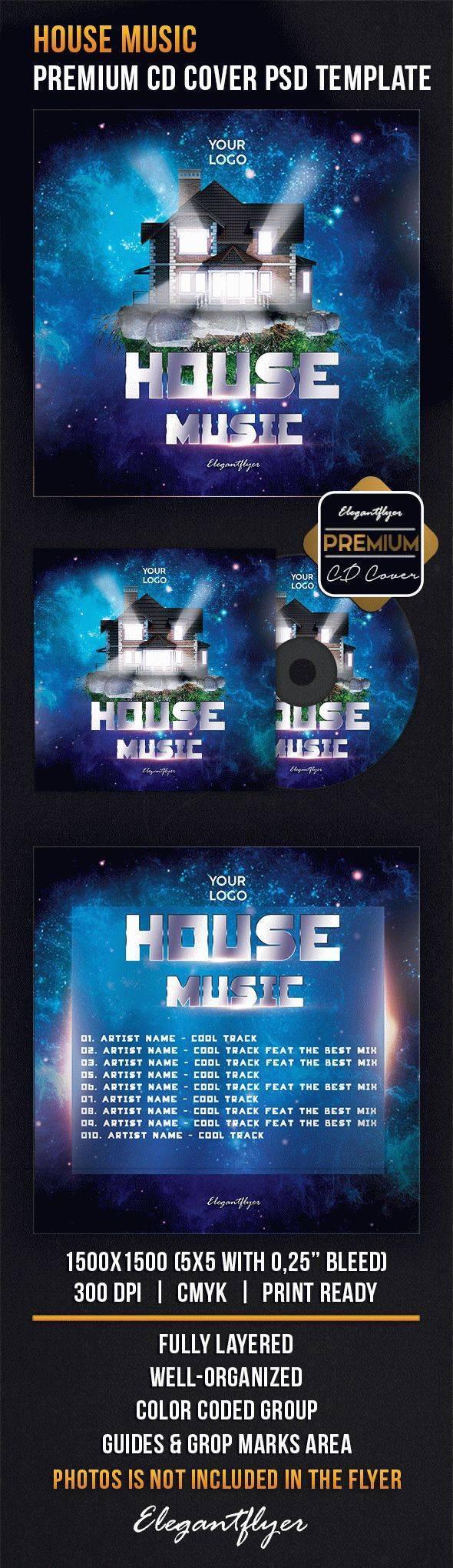 家庭音乐CD包装设计分层素材