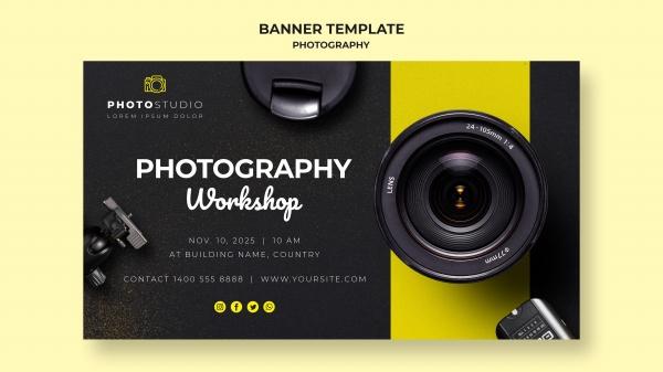 摄影工作室BANNERpsd分层素材