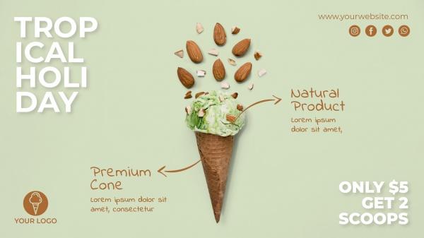 坚果冰淇淋海报设计源文件分层素材