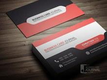 名片设计模板免费红黑创意个性名片设计模板免费分层素材
