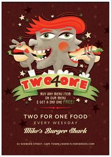 卡通创意美食主题海报设计psd下载