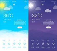 卡通手机天气界面设计psd下载