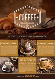 咖啡店宣传海报设计psd免费下载