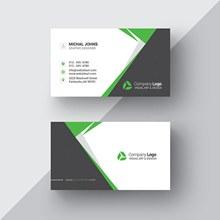 绿色黑色纹理样板式名片模板psd分层素材