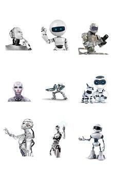 科技机器人psd素材