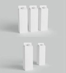 牛奶纸盒包装样机免费psd下载