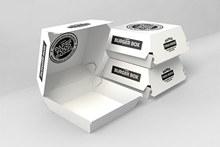 汉堡西式快餐纸盒包装盒样机模板psd下载