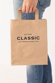 购物环保袋牛皮纸袋样机模板psd设计分层素材