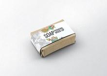 香皂肥皂传统纸质包装贴图样机模板分层素材