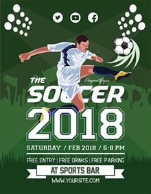 足球比赛海报psd素材