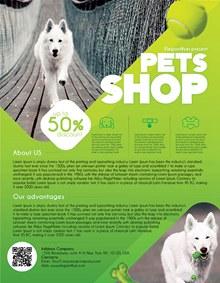 宠物店促销传单分层素材