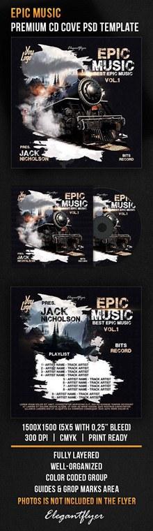 优质音乐CD包装设计分层素材