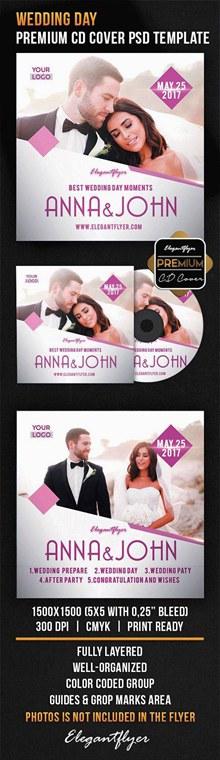 婚礼主题CD封面psd素材