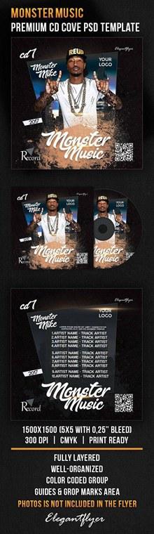 音乐CD包装设计psd分层素材