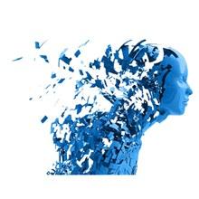 蓝色科技人工智能元素psd分层素材