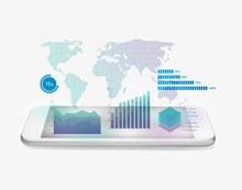 智能手机与信息图表psd图片