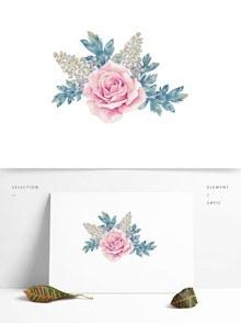 手绘唯美花朵植物psd素材