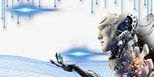 科技元素机器人线网光效分层素材