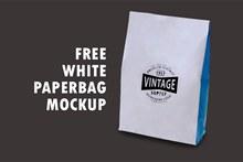 白皮纸袋包装样机psd分层素材