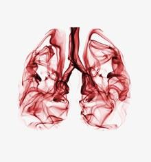 创意肺部插画免抠psd素材