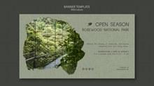 保护原始森林banner设计图psd素材