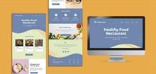 有机健康餐饮网页模板PSpsd素材