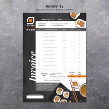 寿司店菜单模板设计分层素材
