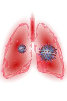 新型冠状病毒肺部病毒元素psd素材
