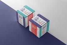 药盒包装样机psd分层素材
