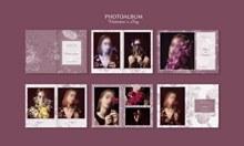 人像摄影集画册设计psd免费下载