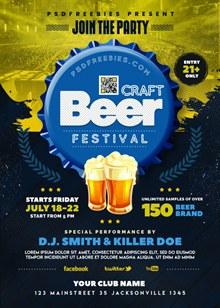 啤酒宣传海报分层素材