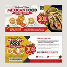 墨西哥美食折扣券模板psd下载