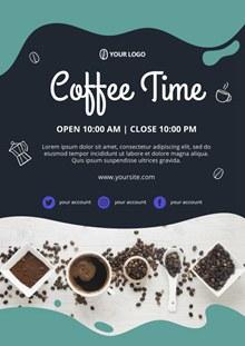 咖啡时光海报模板psd图片