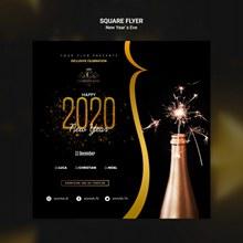 2020年新年方形海报pspsd下载