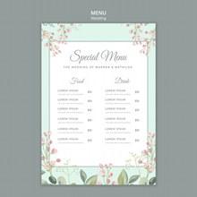 结婚婚宴菜单模板psd素材