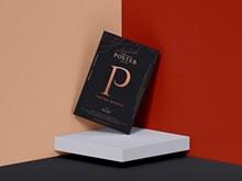 现代品牌时尚海报样机模型psd素材