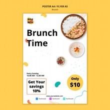 早午餐主题海报模板psd免费下载