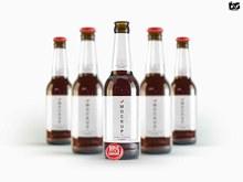 啤酒果汁瓶标签样机源文件psd图片