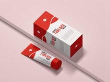 免费化妆盒样机模型分层素材