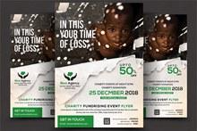 慈善机构宣传单模板psd下载